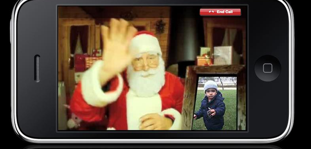 Heres how your kids can get in touch with father christmas heart forget writing a letter to father christmas with these apps and websites children can call text video message the big man himself spiritdancerdesigns Images