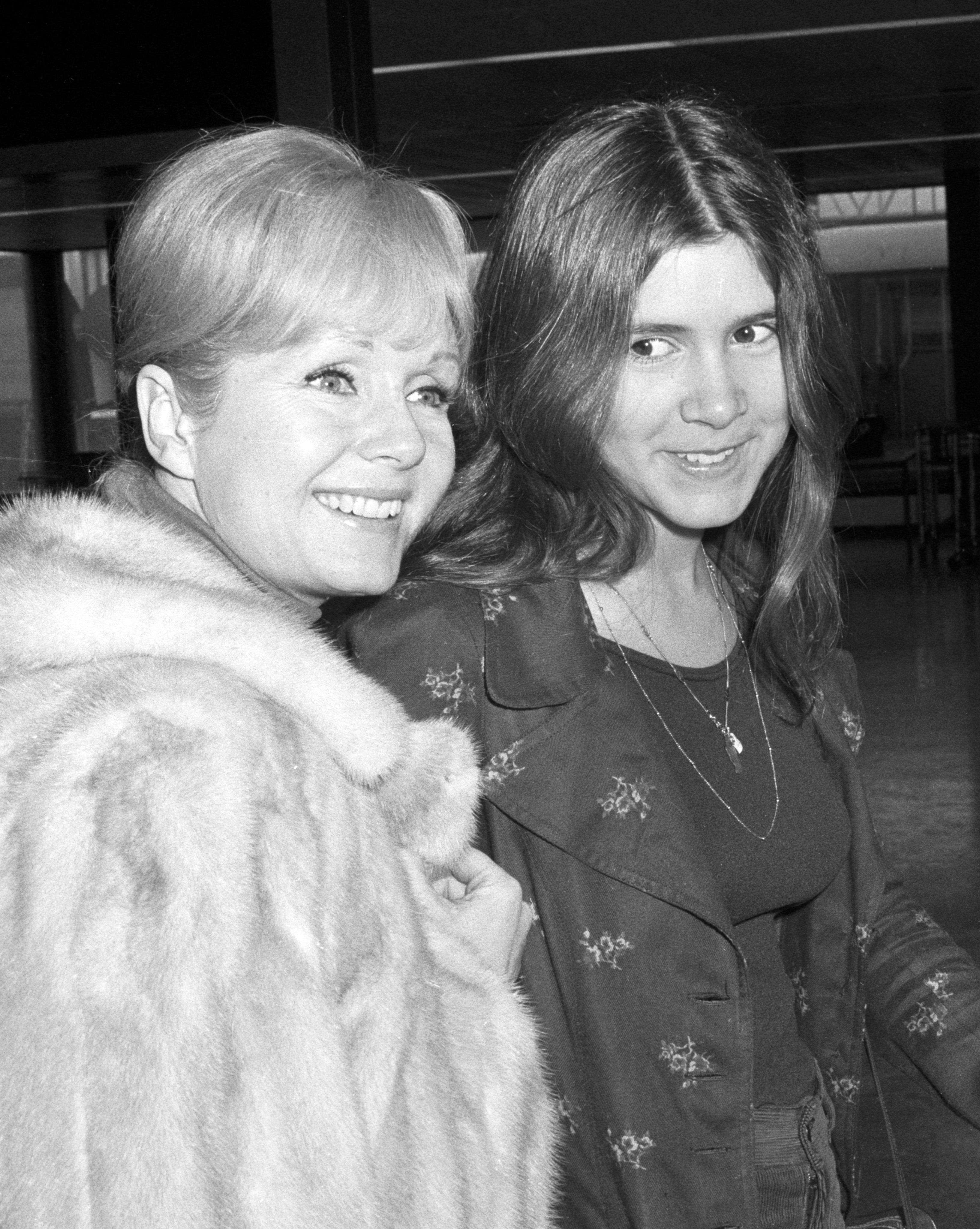 Debbie Reynolds with Carrie Fisher