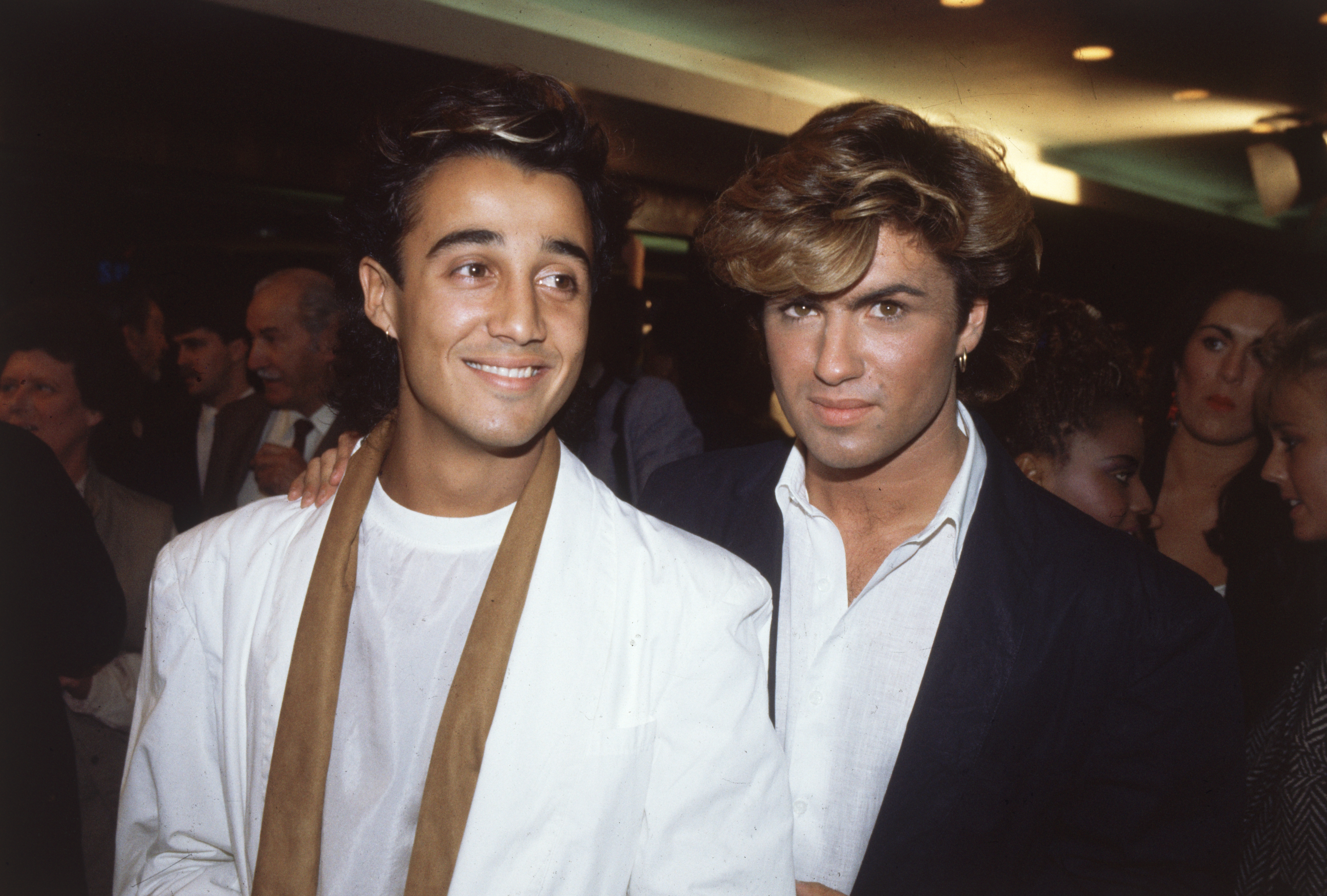 George Michael and Wham co-star Andrew Ridgley