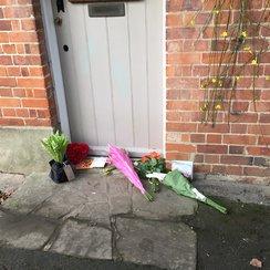 George Michael Floral Tributes Oxfordshire