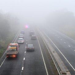 A40 crash fog