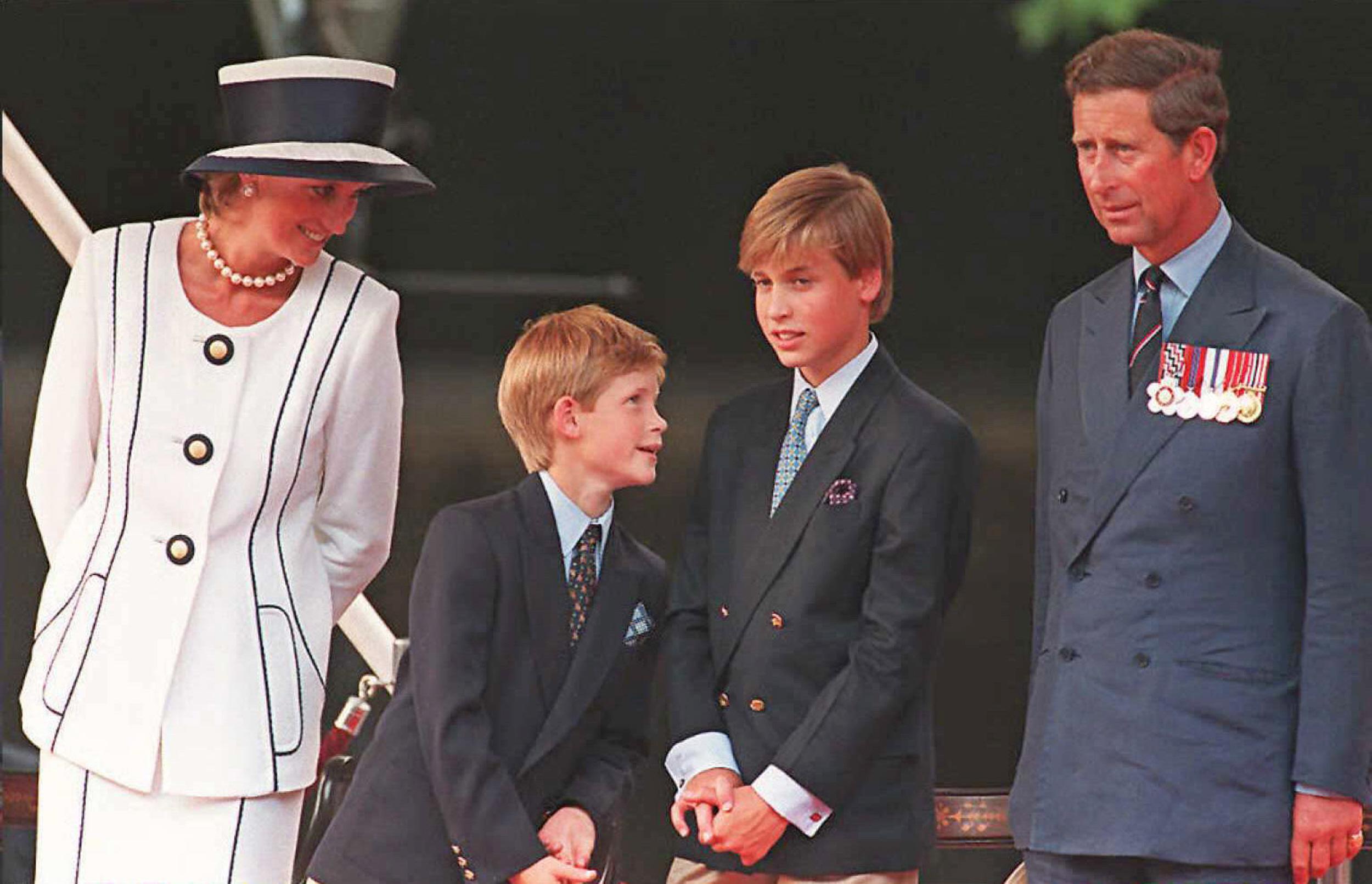 Princess Diana, Prince Harry, Prince William, Prin
