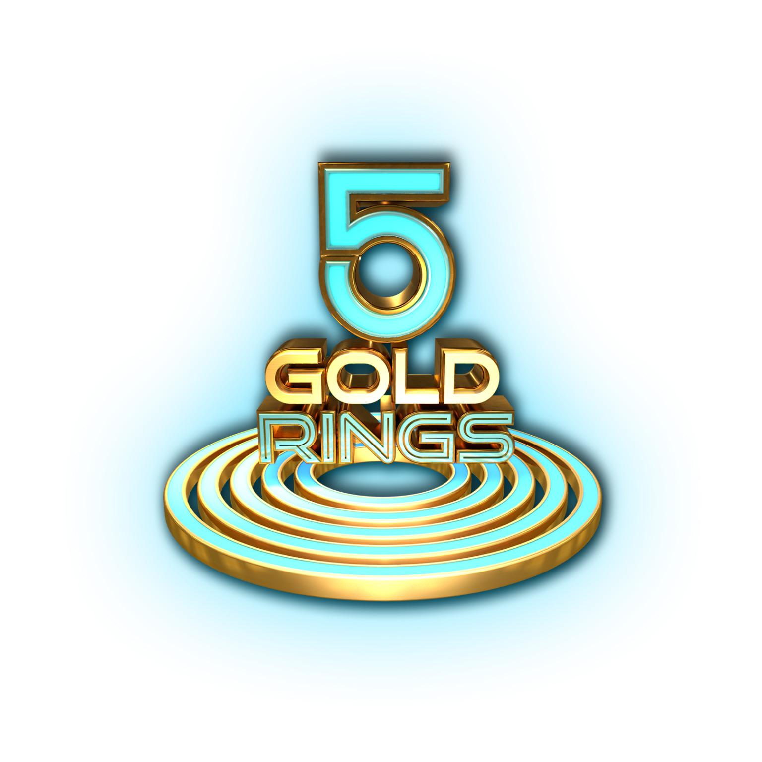 5 Gold Rings Logo