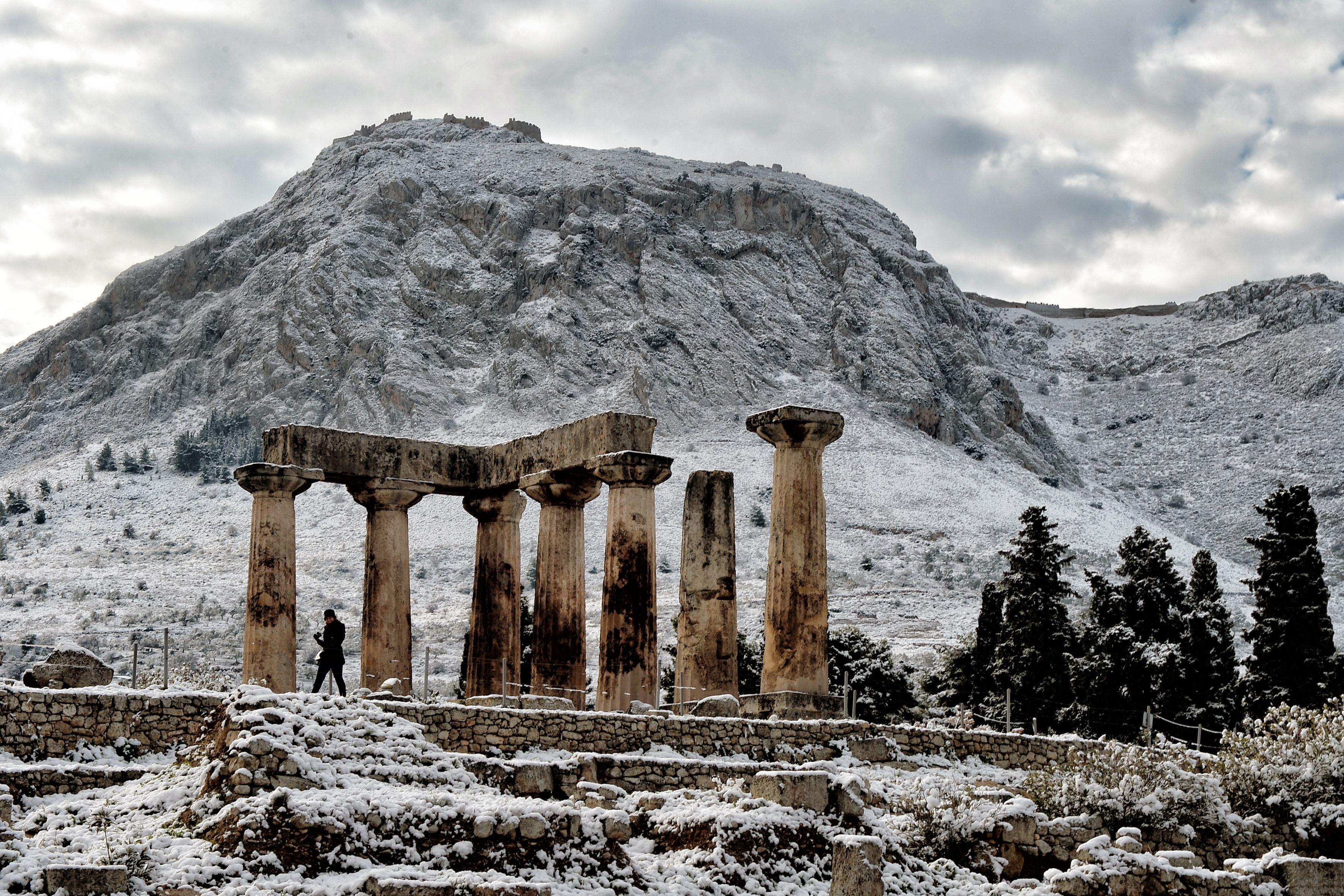 Greece Parthenon arctic blast