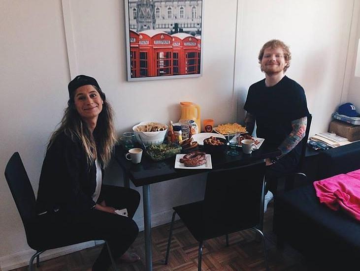 Cherry Seaborn and Ed Sheeran Instagram