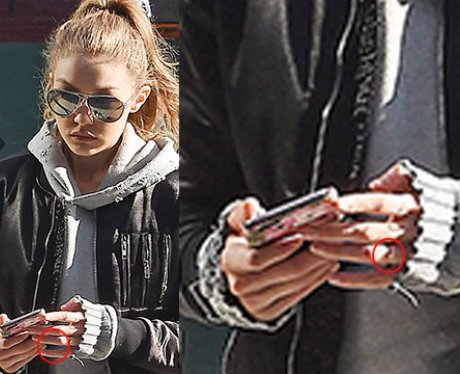 Gigi Hadid Engagement Ring Zoomed In