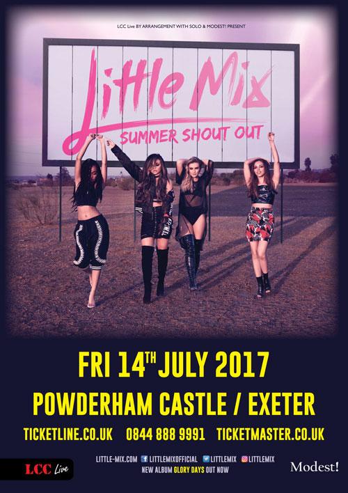 Little Mix Powderham castle poster