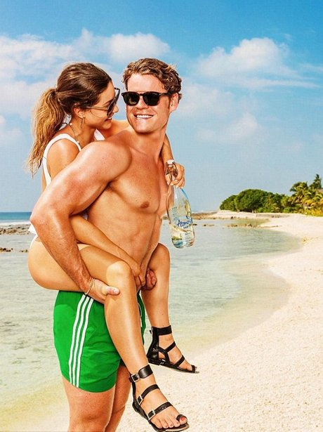 Louise Thompson and Ryan Libbey on holiday