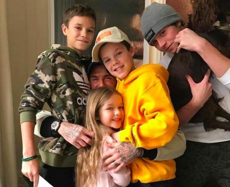 David Beckham and family