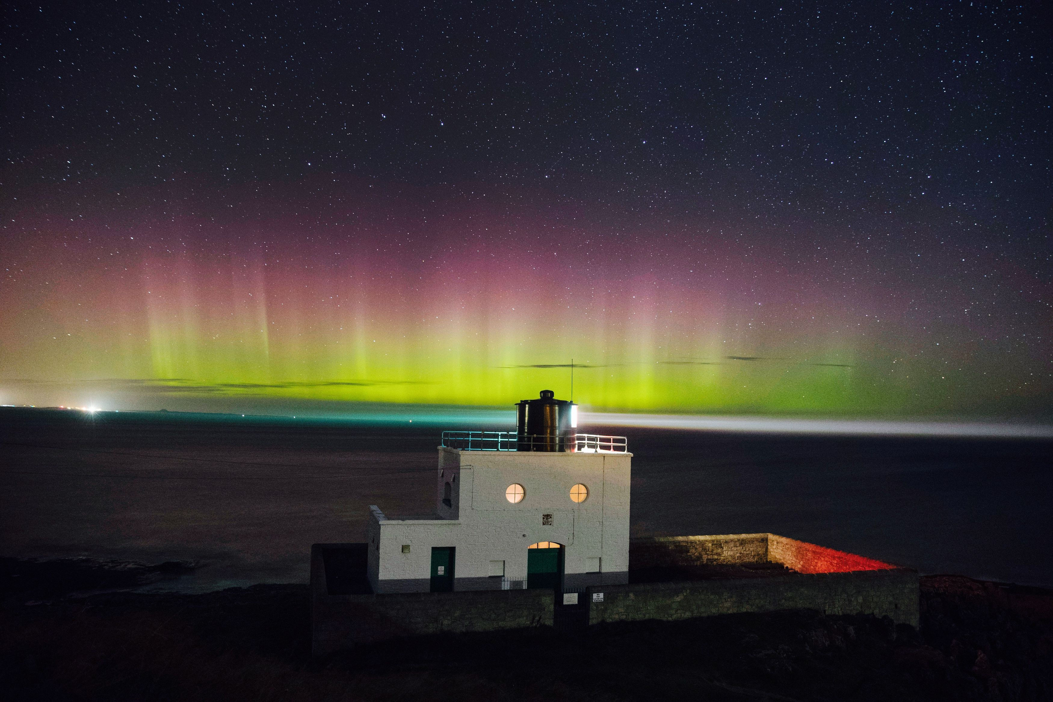 Northern Lights seen in Northumberland, North East