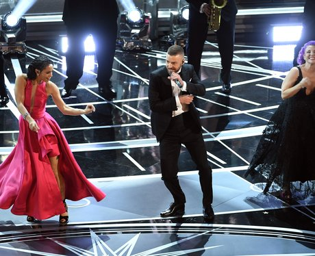 Justin Timberlake performs at the Oscars 2017