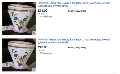 Chip eBay Beauty and the Beast rip-off