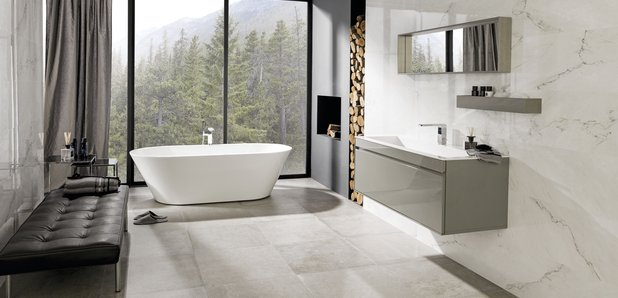 Win a 3 000 bathroom thanks to porcelanosa heart wales for Bathroom remodel under 3000