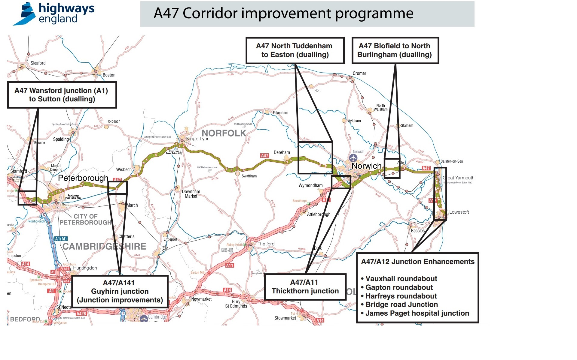 A47 Improvements Highways England