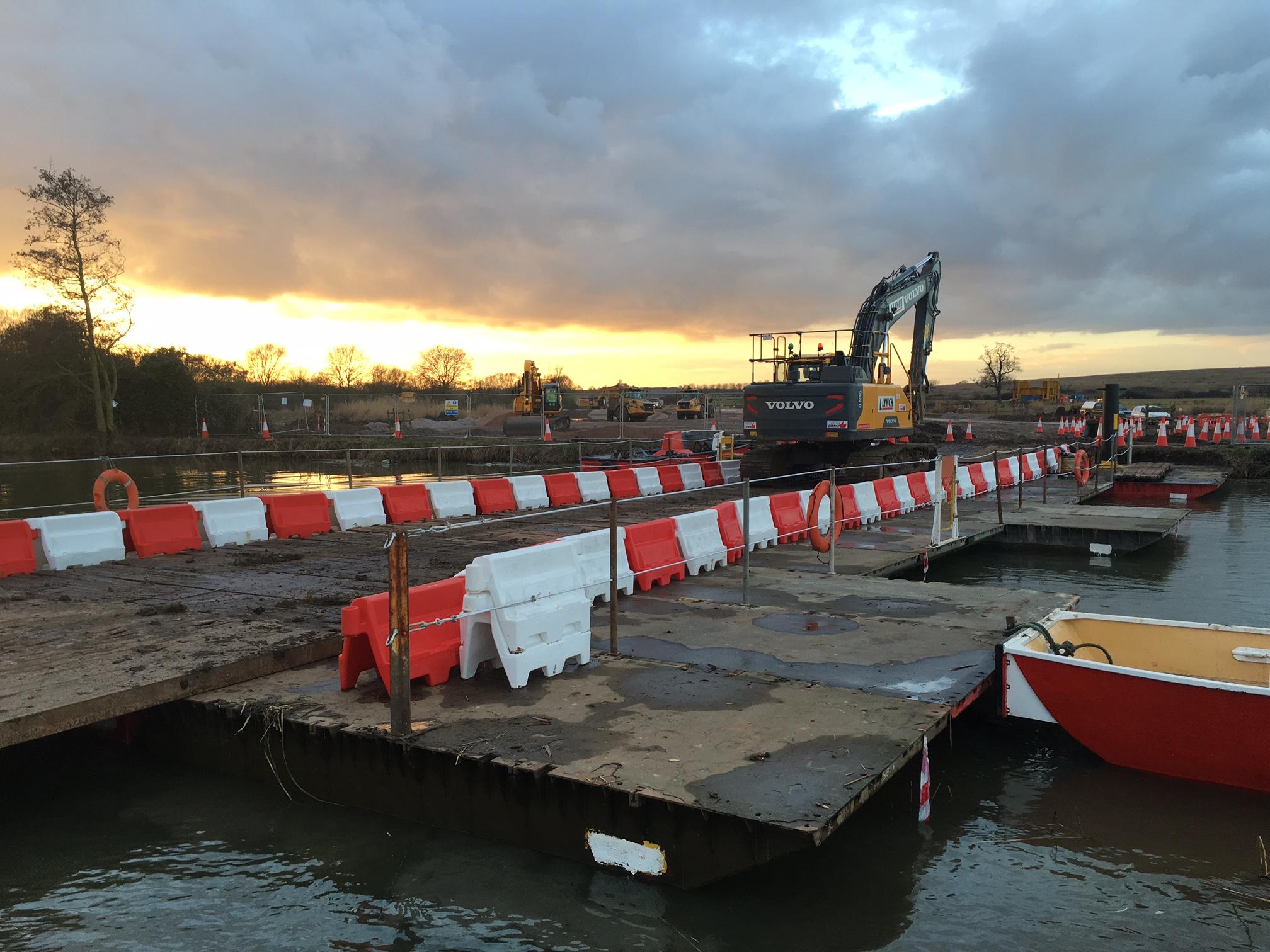 A14 pontoon works. March 2017