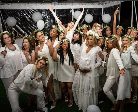 Ciara Glows At Her All-White Baby Shower