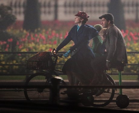 Emily Blunt as Mary Poppins on set
