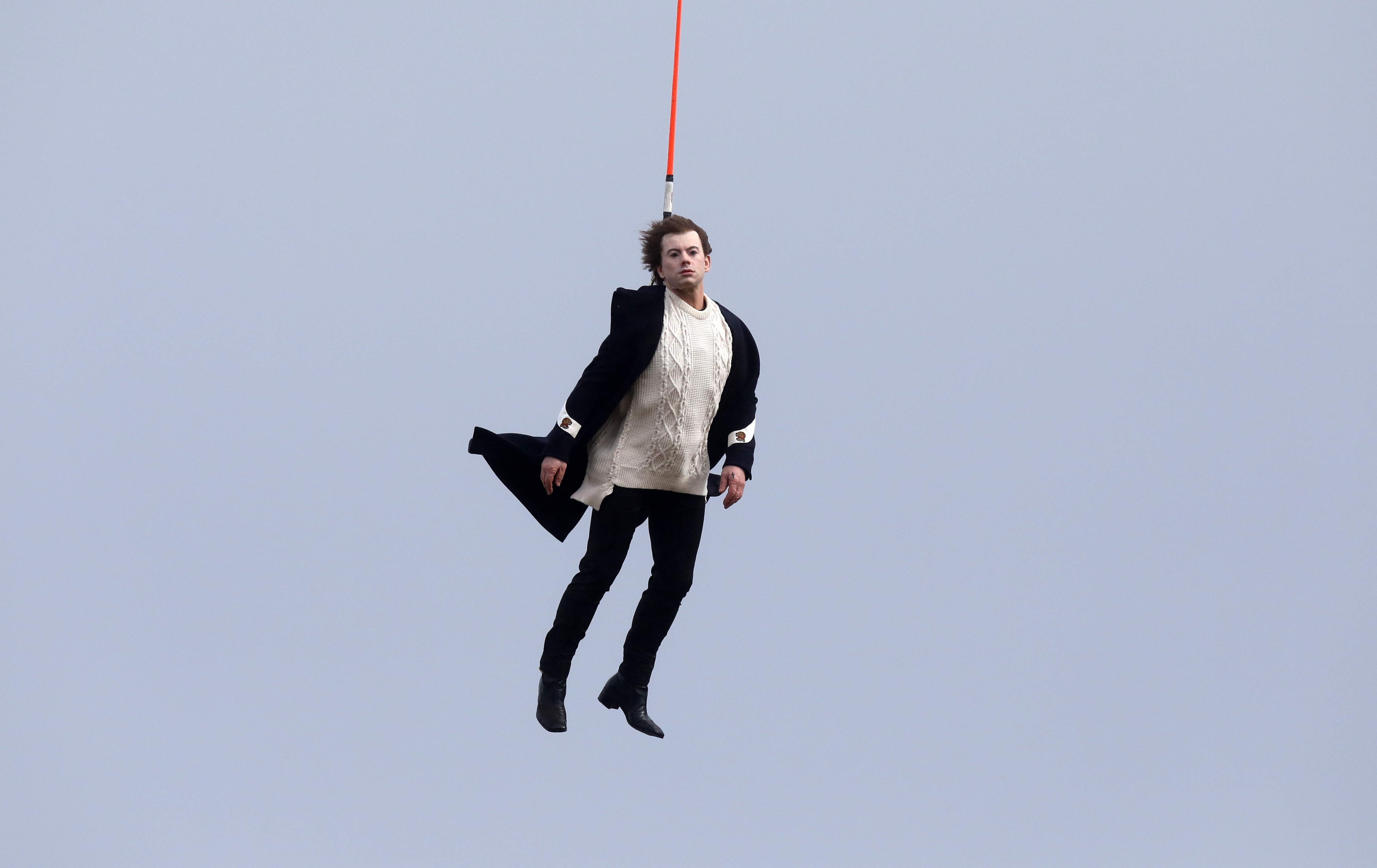 Harry Styles stunt double filming music video