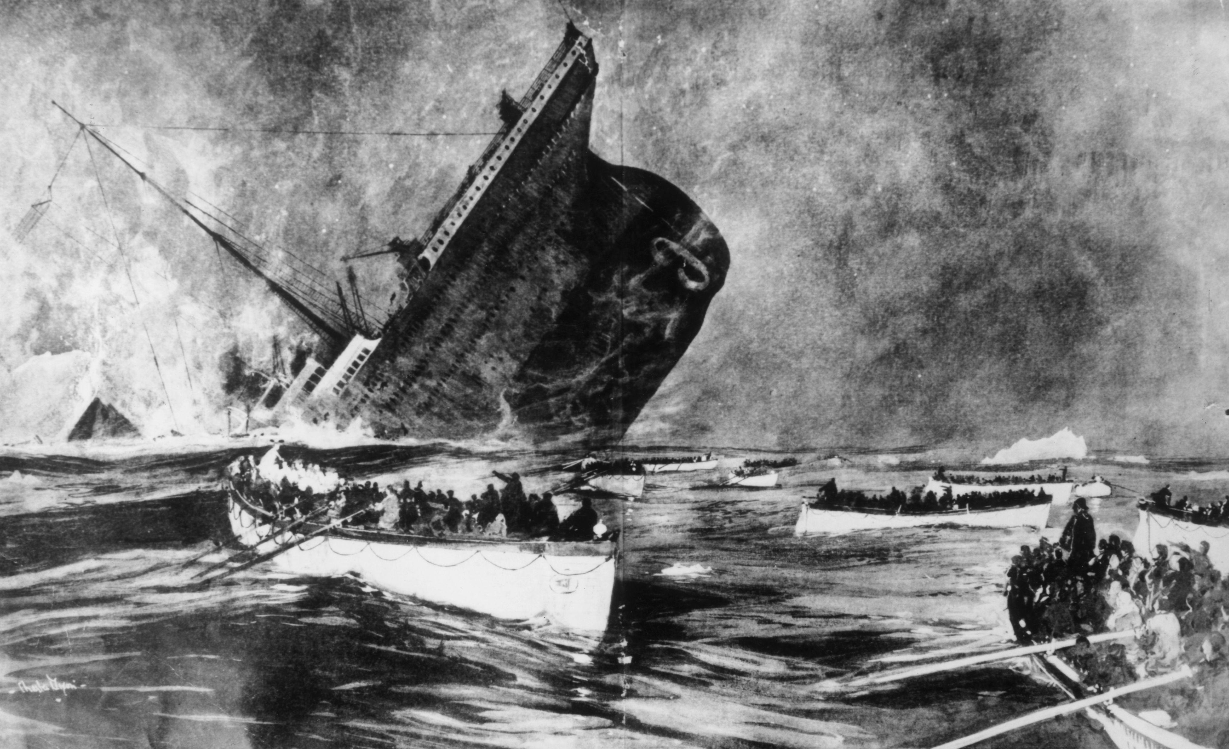 Titanic life boats