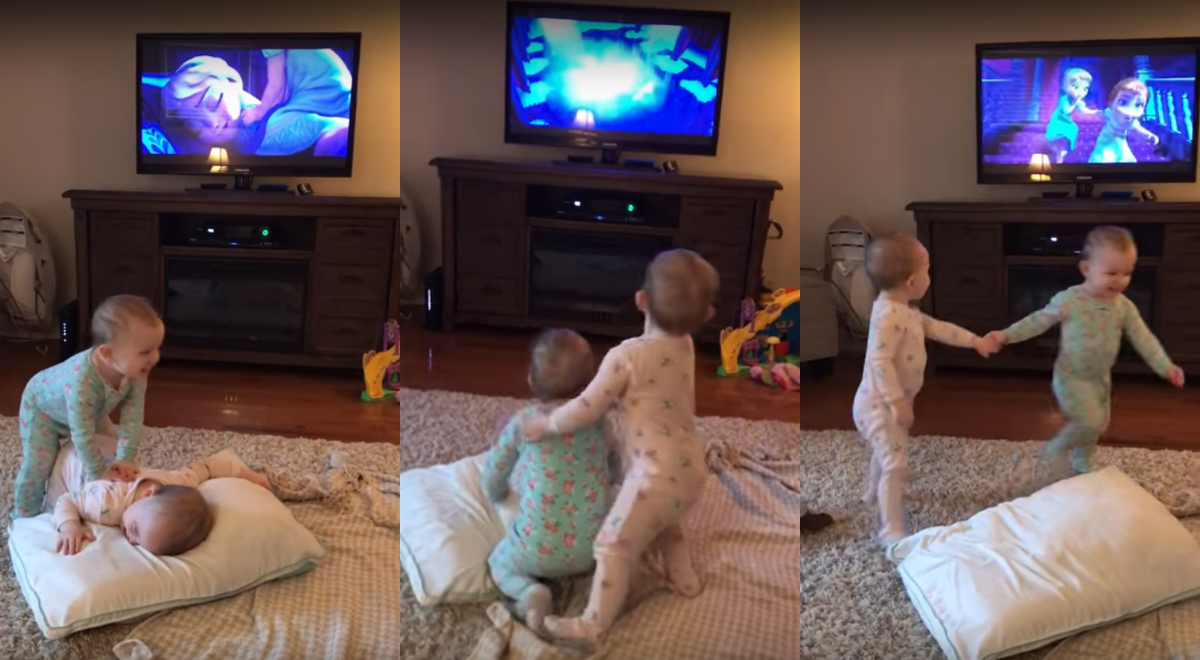 Watch These Adorable Twin Sisters Act Out Their Fa