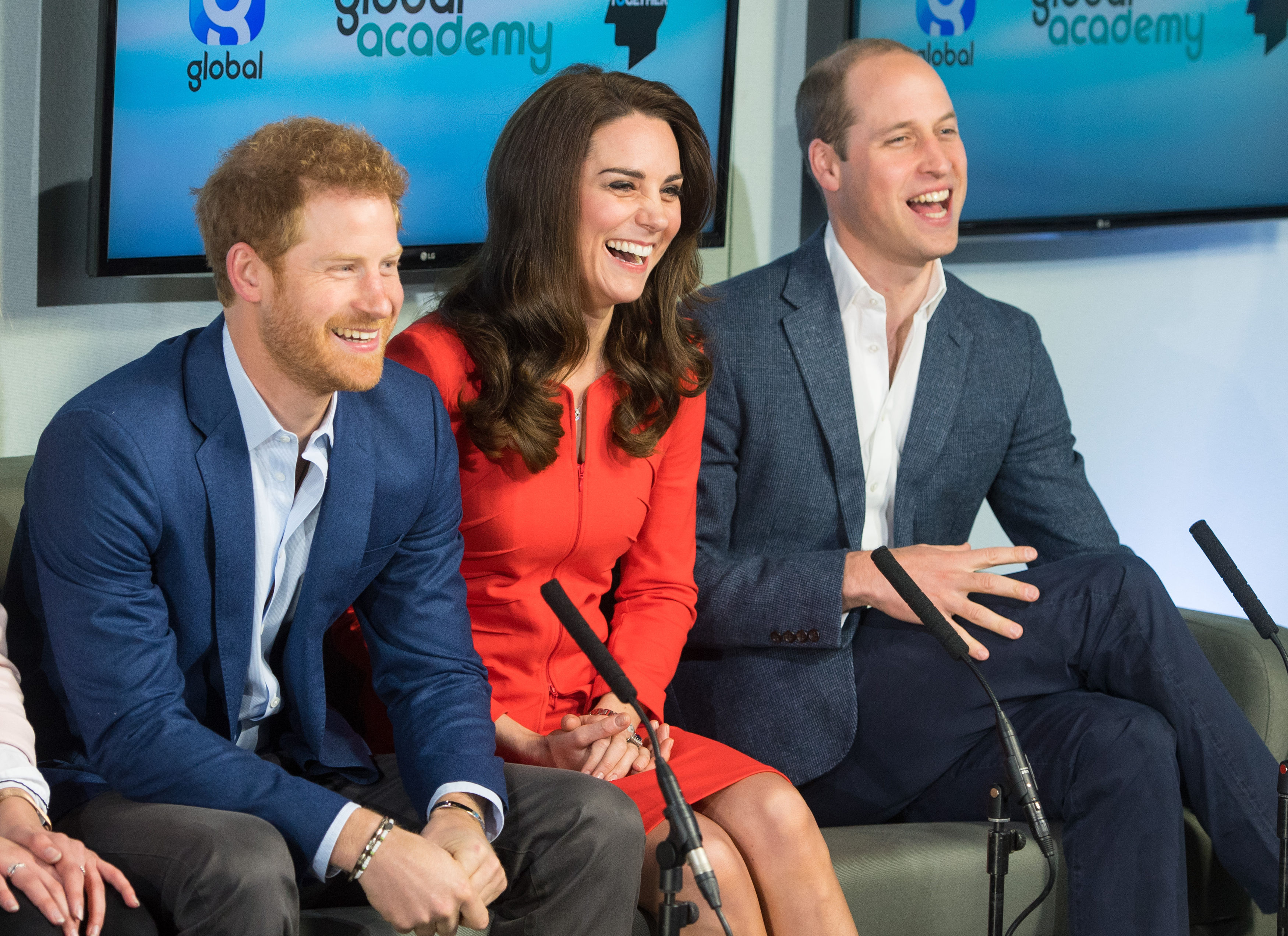 Global Academy royal guests with Prince Harry