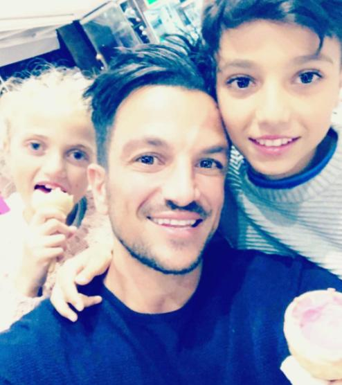 Peter Andre and family Instagram