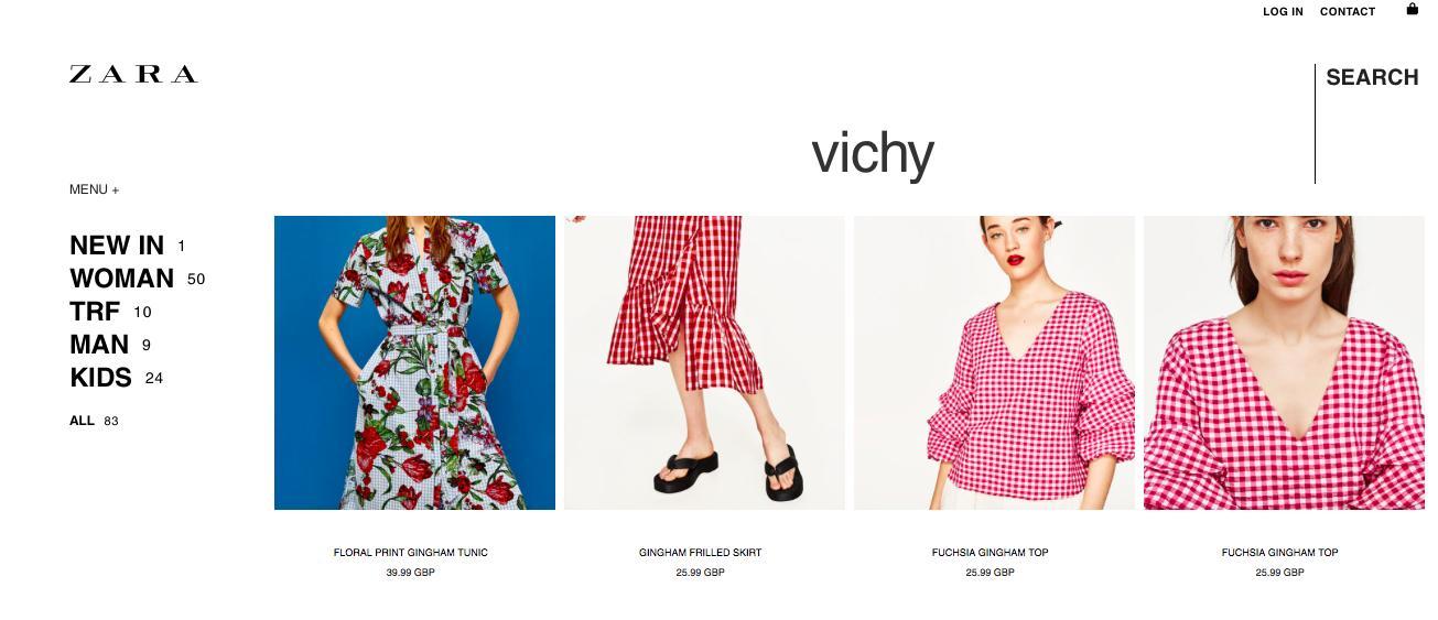Vichy/Gingham Zara