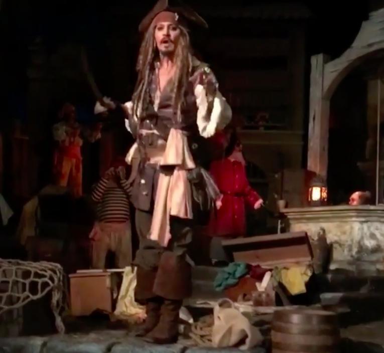 Johnny Depp Pirates Of The Caribbean Ride