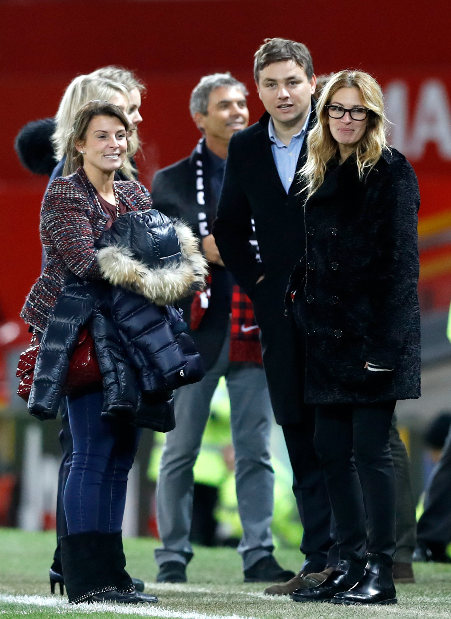 Julia Roberts and Coleen Rooney at Old Trafford