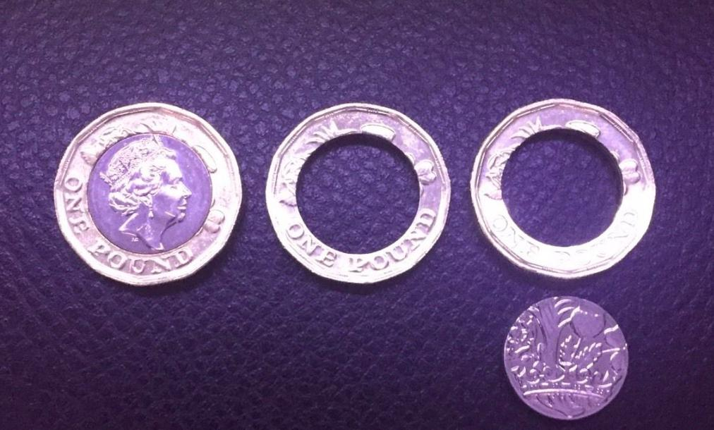 Faulty new £1 coin - eBay