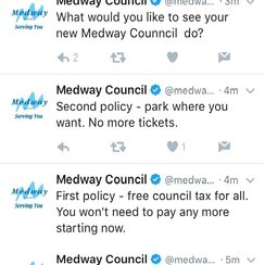 Medway council twitter hacked