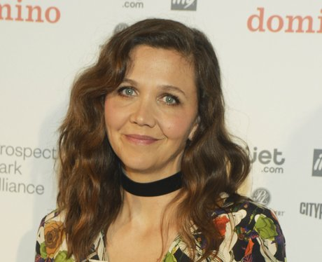 Maggie Gyllenhaal Looks Fabulous In Floral Dress At Store Opening