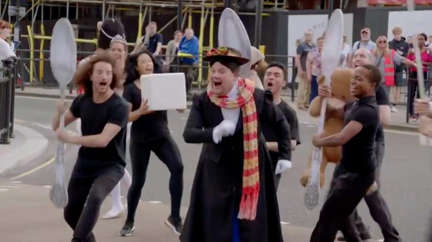 James Corden Mary Poppins Crosswalk