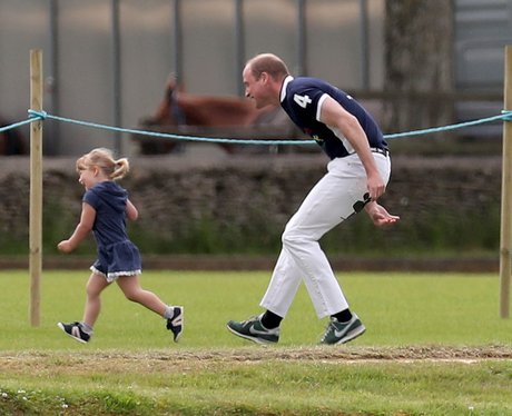 Mia Tindall gives Prince William a workout at the