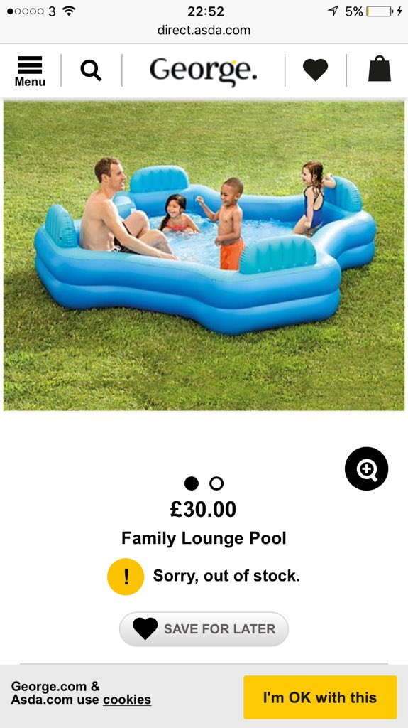 Paddling Pool sold out