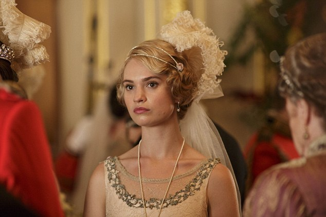 Lily James Downton Abbey Rose