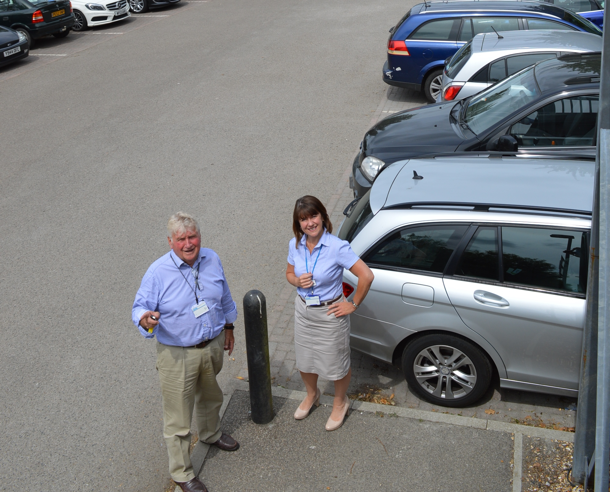 Car park for commuters nr Ely