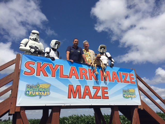 Maize Maze owners and guests - Wimblington