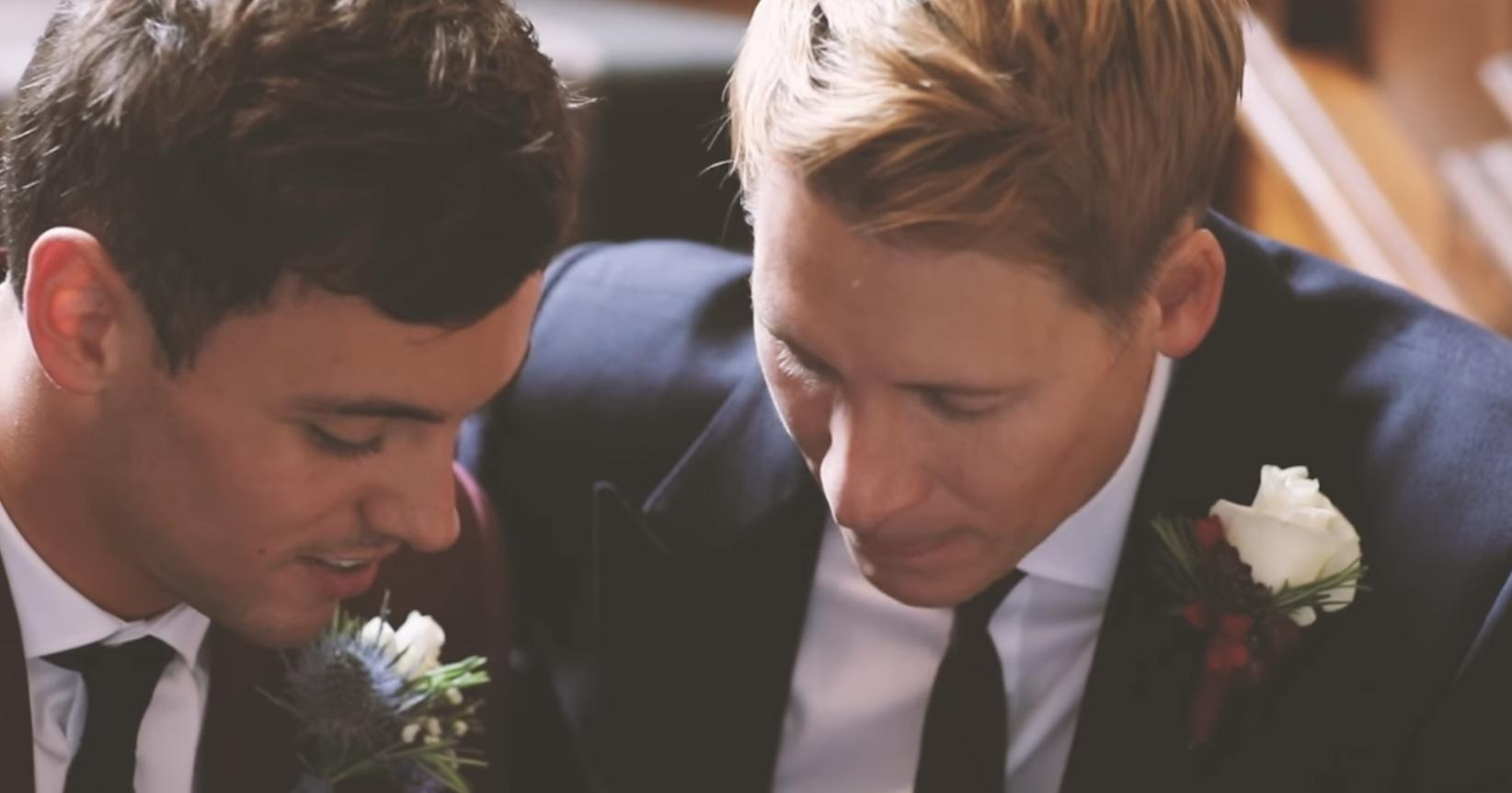 Tom Daley wedding video shot