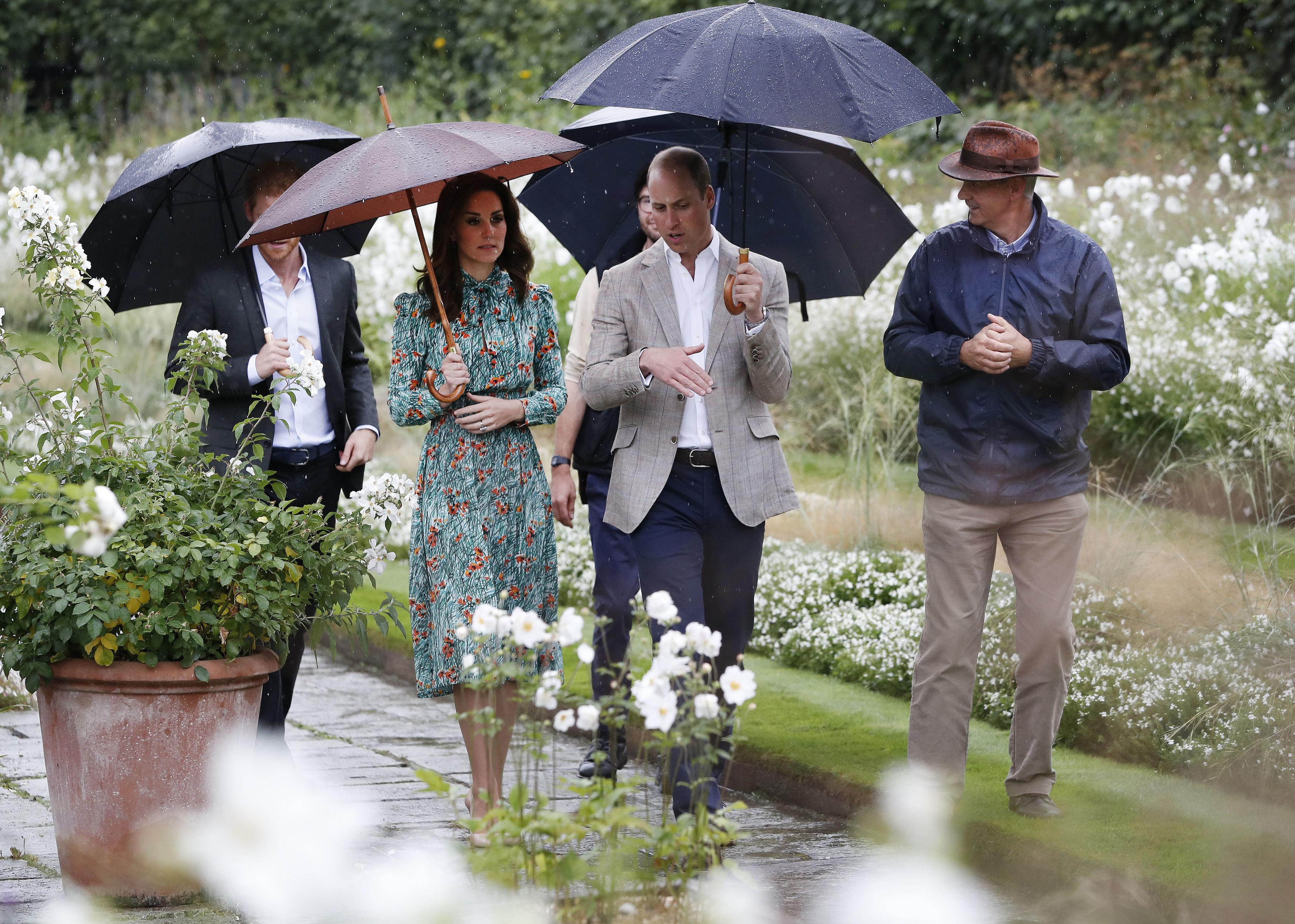 Prince William and Harry visit Diana's memorial ga