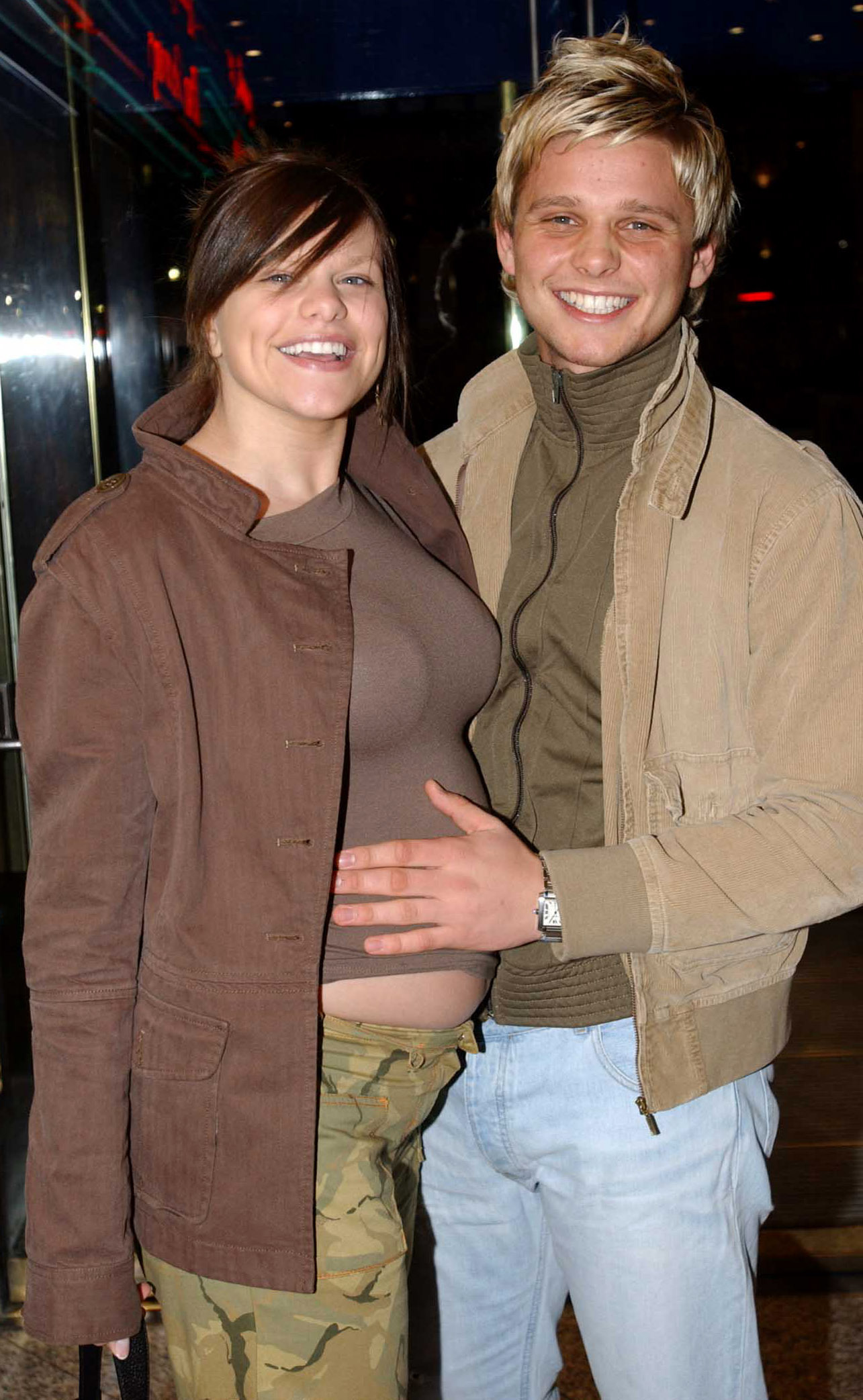 Jade Goody Jeff Brazier at premiere in 2003.