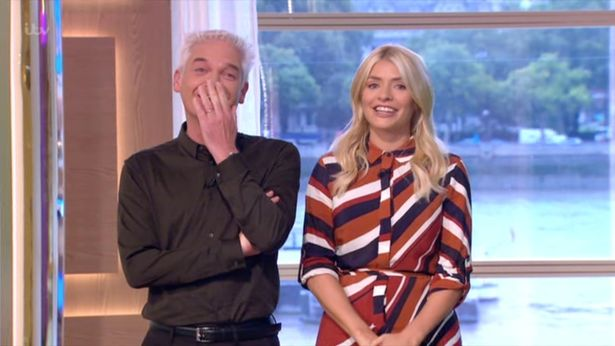 Holly and Phil Giggling on This Morning