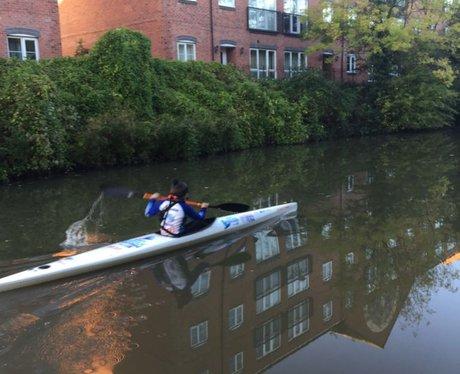 Gemma powering towards Hatton Locks
