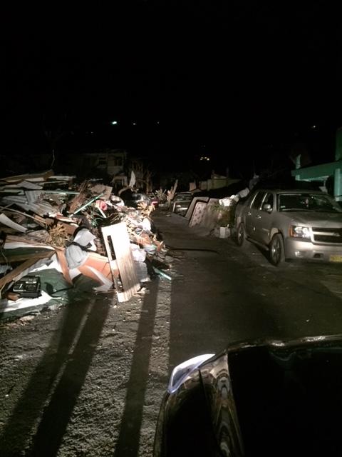 British Virgin Islands are damaged by Hurricane Ir
