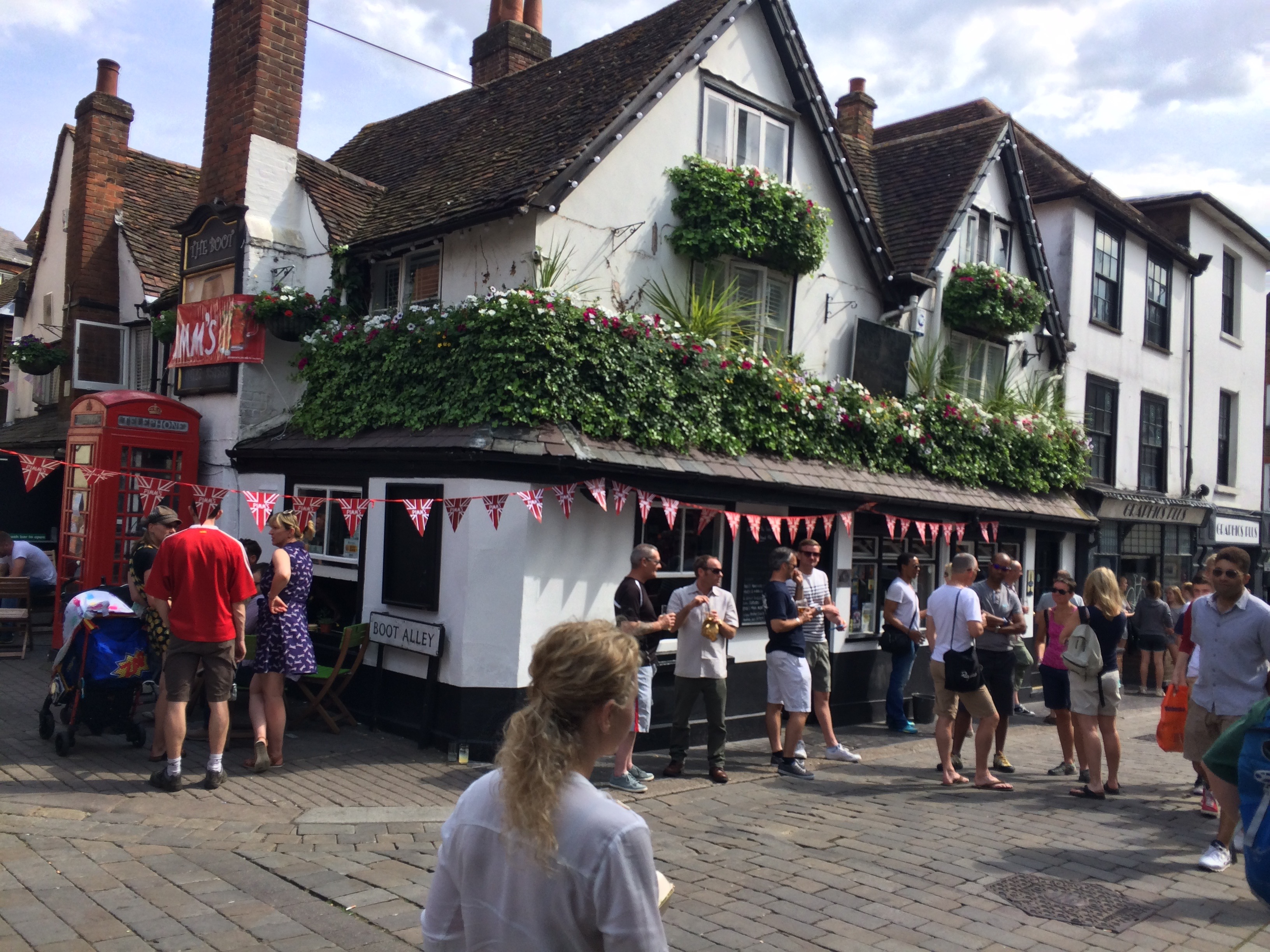 The Boot pub from outside in St Albans, Hertfordsh