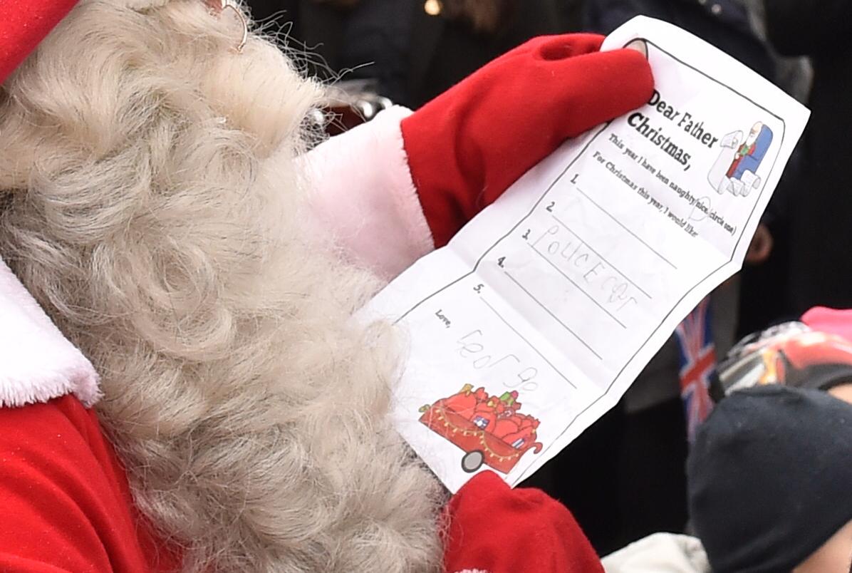 Prince William and Santa