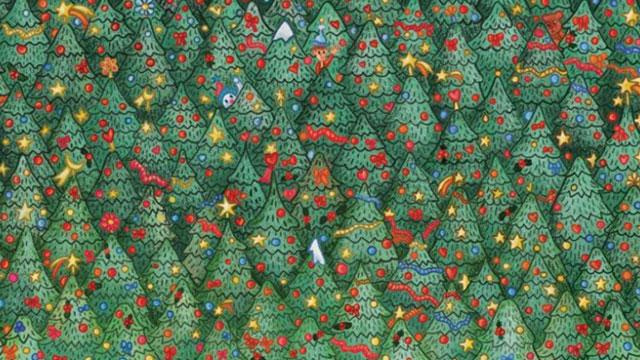 robin, christmas, christmas trees