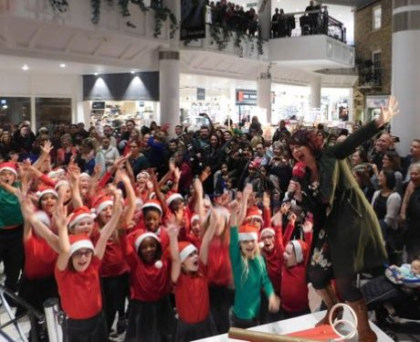 The Marlands Xmas Light Switch On 2017