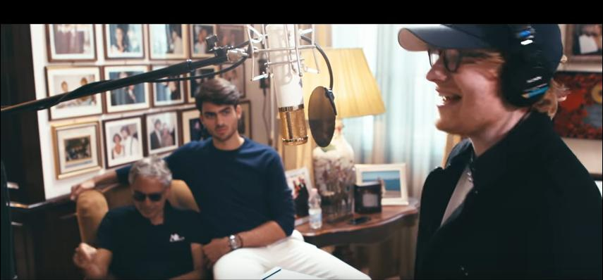 WATCH: Ed Sheeran and Andrea Bocelli Create The 'Perfect