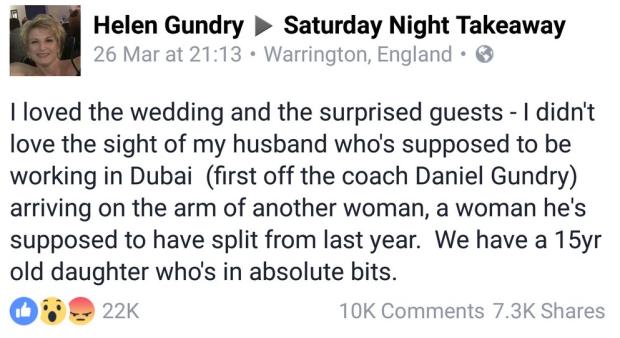 Helen Gundry facebook comment